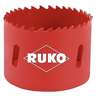 Ruko 106073 Corona perforadora HSS bimetal, dentado variable, 73 mm