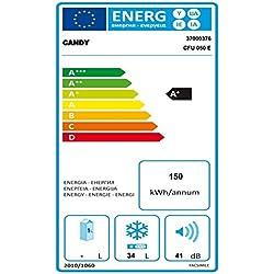 Candy CFU 050 E Autonome Droit 34L A+ Blanc congélateur - Congélateurs (Droit, 34 L, 2 kg/24h, N-ST, A+, Blanc)