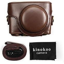 Kinokoo Housse en Cuir PU pour Appareil Photo Sony DSC-RX100 VI RX100 V RX100 IV RX100 III RX100 II RX100