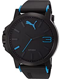 Puma Motorsport Ultrasize Unisex Quartz Watch with Black Dial Analogue Display and Black Plastic or PU Strap PU102941002