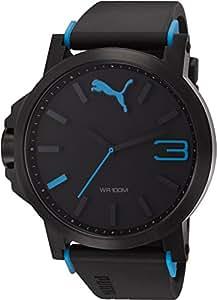 Puma Time Ultrasize PU102941002 - Montre Quartz - Affichage Analogique - Bracelet Plastique Noir et Cadran Noir - Mixte