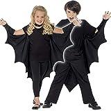 Amakando Vampir Umhang mit Kragen / 1,20 m Spannweite / Fledermaus Flügel Dracula / Perfekt passend zu Vampir Kostümen & Kinder-Fasching