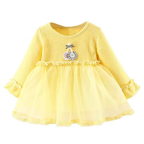 189ff81fc8f1a Vestido de Flores con Encaje Tul para Niñas Primavera K-youth Vestidos de  Fiesta Niña