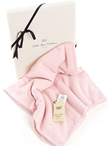 Dalle Piane Cashmere - Couverture bébé en 100% cachemire à deux tons - Couleur: rose