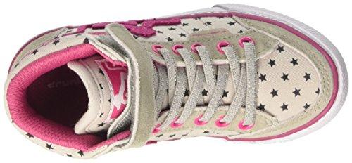 DrunknMunky Mädchen Boston Sky Tennisschuhe Grigio (Grey/Pink)