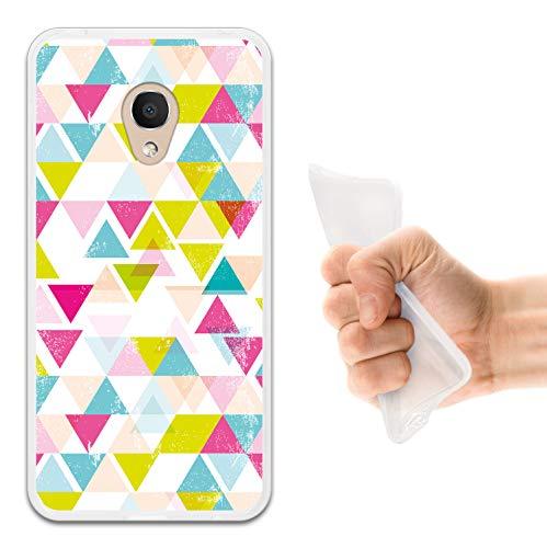 WoowCase Alcatel 1C DUAL SIM Hülle, Handyhülle Silikon für [ Alcatel 1C DUAL SIM ] Geometrische Formeln Dreieck Handytasche Handy Cover Case Schutzhülle Flexible TPU - Transparent