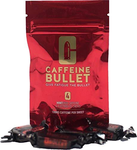 Caffeine Bullet - Caramelos de menta masticables con electrolitos. Suplementos de cafeína para antes de entrenar en el gimnasio, corriendo, carreras y ciclismo; para un rápido aumento de energía (10)
