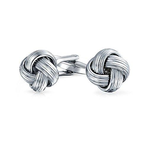Bling Jewelry Mens De La Tresse Tissée Ronde Simple Câble Corde Torsion De Manchette pour Les Homme Charnière en Acier Inoxydable