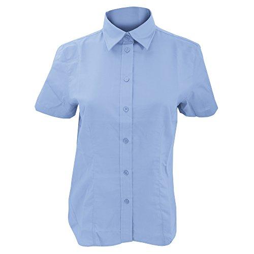 Kustom Kit - Camicia Maniche Corte - Donna Rosso
