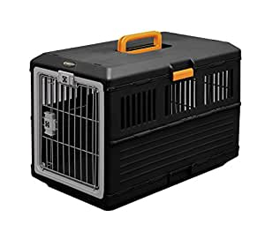 IRIS, faltbare Transportbox für Hunde und Katzen FC-670, Kunststoff, schwarz, 68,6 x 40,3 x 47,8 cm