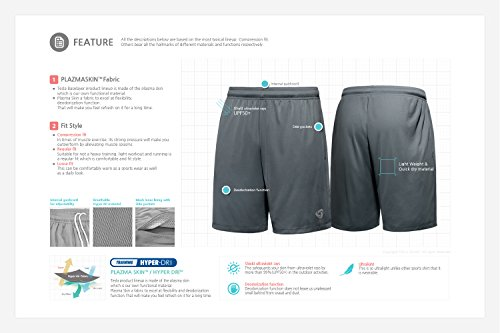 Tesla Active pantaloncini sportivi performance Hyperdri II da uomo con tasche CMBS01/MBS02/MTP07 TM-MTP07-RYB