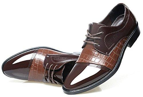 Men's British Platform Pointed Toe Oxfords Shoes brown