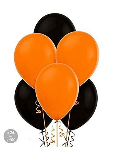 Ballons Halloween orange et noir| |100 Ballons