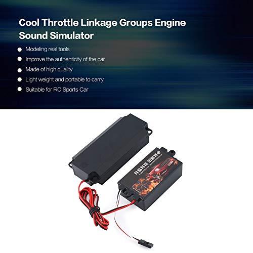 creatspaceDE Second Generation Kühle Gasgestänge Gruppen Motor Sound-Simulator mit 1 Lautsprecher für RC Sport Auto-Modell Fahrzeug Farbe: Schwarz