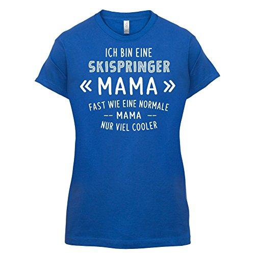 Ich bin eine Skispringer Mama - Damen T-Shirt - 14 Farben Royalblau