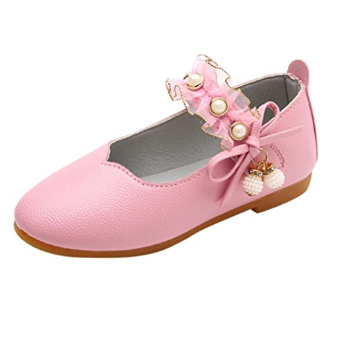 ELECTRI Fille Butterfly Chaussures Princesse BéBé Filles Pendentif Perle Bow Sandales Enfants Casual dans Mariage Chaussures de Princesse Chaussures de Spo