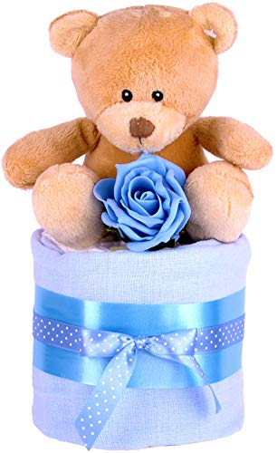 Baby Jungen MINI STAR Windeltorte, Baby Dusche Geschenk, Blau Baby-Geschenkkorb-Schnell & kostenlose Lieferung. (Baby-dusche-geschenke Für Jungen)