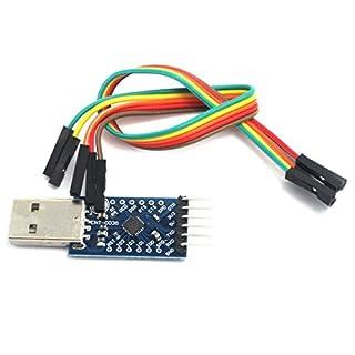 WINGONEER CP2104 seriell Konverter USB 2.0 zu UART 6PIN Modul TTL-kompatibel mit und besser als CP2102