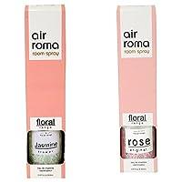 AirRoma Combo of Rose Original Fragrance Air Freshener Spray 200 ml & Jasmine Flower Fragrance Air Freshener Spray 200 ml
