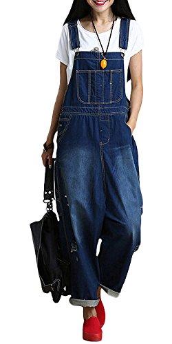 Vogstyle Women's Suspenders Romper Harem Jumpsuit Pants