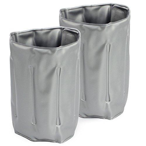 COM-FOUR® 2x Flaschenkühler, Kühlmanschette zum Kühlen von Flaschen, mit Klettverschluss, 32,5x15cm
