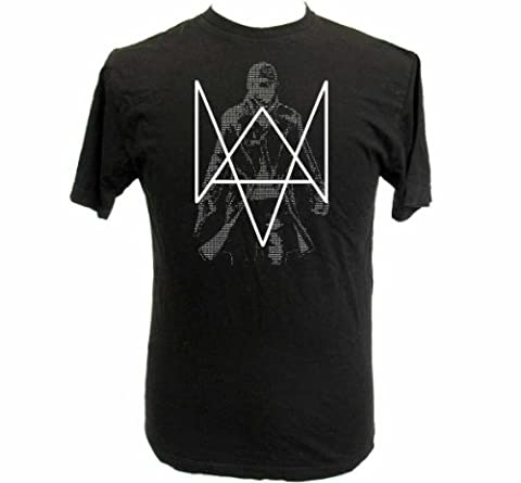 Watch Dogs Inspired Binary Aiden Pearce Black T Shirt Extra