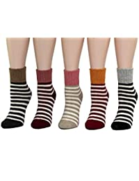HapiLeap Women's Super Thick Soft Comfortable Crew Socks Wool Thick Winter 5-pack