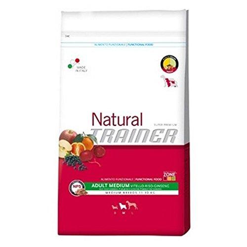 Natural Trainer Per Cani Adulti al Manzo, Riso e Ginseng 12,5 kilogramm
