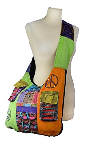 Ladies Hippie Style Multicoloured Long Shoulder Bag