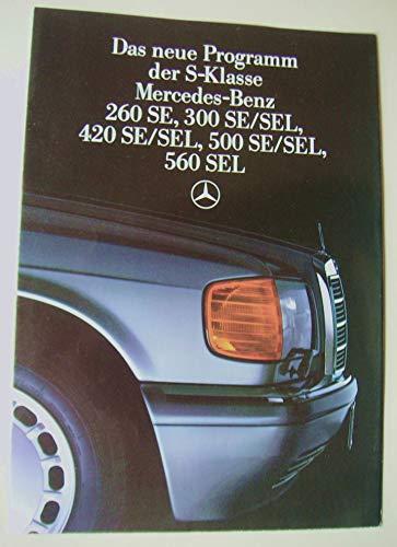 Prospekt Mercedes-Benz S-Klasse 260SE 300SE 300SEL gebraucht kaufen  Wird an jeden Ort in Deutschland