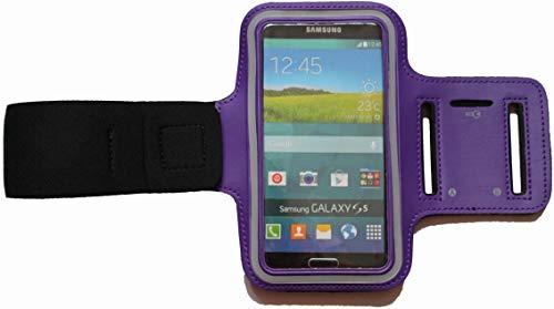 Sport Armband Schweißfest Schutztasche für Apple iPod Touch 4G Fitness Handyhülle Armtasche mit Kopfhöreranschluss, Laufen, Blank S Lila (Ipod Armband Lila)