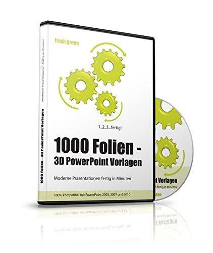 1000 Folien - 3D PowerPoint Vorlagen - Farbe: fresh.green (2016): Moderne Präsentationen für  Business, Kommunikation, Marketing, Vertrieb, Verkauf, ... - für Microsoft PowerPoint und Apple Keynote