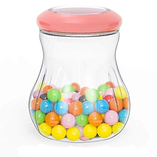Tritan Kunststoff Twist lock Frischhaltedose, Snack Aufbewahrungsbox Vorratsdosen zu Behälter Lebensmittel, Formel, Nüsse, Getränke, Körnerbehälter, BPA-Frei, Luftdicht, Auslaufsicher (0,66 L, Rot)