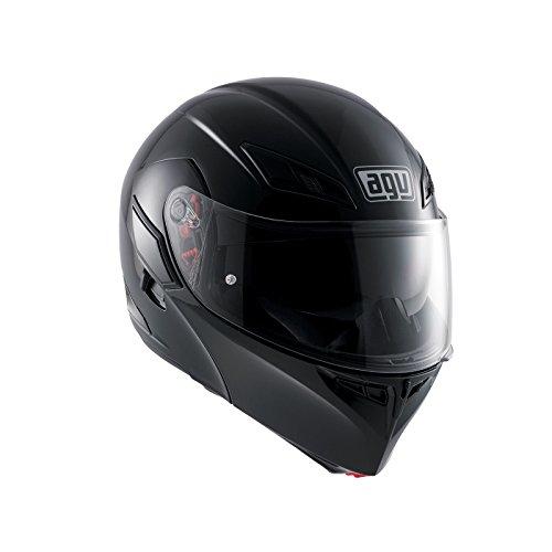 AGV Casco Moto Compact ST E2205Solid plk, Negro, L