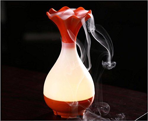 HL Usb Aromabefeuchter Mit Nachtlicht Haushalt Ultraschall-Luftbefeuchter Aromatherapie Maschine Flüsterleise , Orange,orange (Orange Aromatherapie)