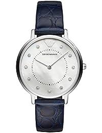 83695b849e99 Emporio Armani Reloj Analogico para Mujer de Cuarzo con Correa en Cuero  AR11095