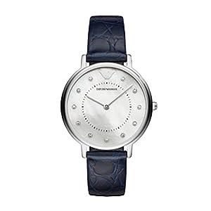 Emporio Armani Reloj Analogico para Mujer de Cuarzo con Correa en Cuero