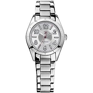 Reloj Tommy Hilfiger 1781276 de cuarzo para mujer con correa de acero inoxidable, color plateado de Tommy Hilfiger