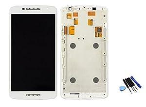 Ersatzdisplay für Motorola Moto X Play XT1562 kompatibles LCD Display mit Rahmen Touch Screen Digitizer weiß