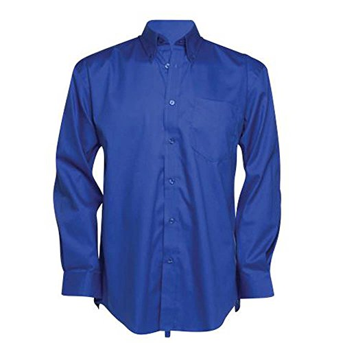 Kustom Kit d'entreprise Oxford chemise à manches longues léger Bleu