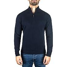 Pullover | Sweater | Maglione con Colletto con Cerniera da Uomo 100% Cachemire (S-XXL)