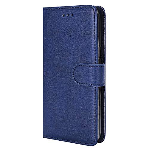 NEXCURIO Samsung Galaxy S5 Hülle Leder, Handyhülle Tasche Leder Flip Case Brieftasche Etui mit Kartenfach Stoßfest Kratzfest Schutzhülle für Samsung Galaxy S5 - NEKTU20203 Blau (Und Cases Phone S5 Galaxy Brieftaschen)
