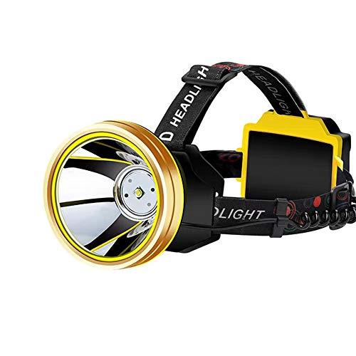 Preisvergleich Produktbild Scheinwerfer Smart Side Heat Sensing Scheinwerfer Einstellbare USB-Ladescheinwerfer Outdoor Camping Bergsteigen Scheinwerfer (Farbe : Gelbes Licht,  Auflage : L8)