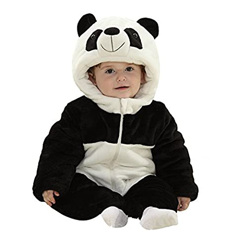 Eagsouni® Baby Mädchen und Jungen Winter Flanell Strampler Overall Outfits Anzug Karikatur Tier Schneeanzug Jumpsuit Spielanzug