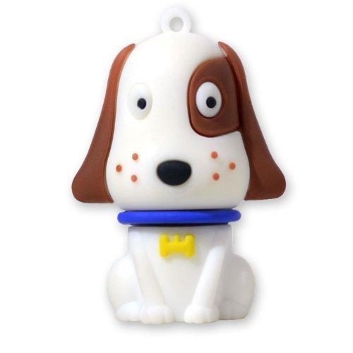 818-Shop No31400050016 Hi-Speed 2.0 USB-Sticks 16GB Hund Haustier 3D weiß