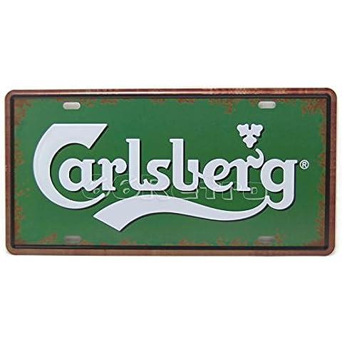 calsburg cerveza, grabado, tin sign–Placa de metal, 30cm x 15cm, Vintage pared decorativos Cartel por 66retro
