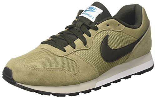 Nike MD Runner 2, Zapatillas de Entrenamiento Para Hombre, Verde (Neutral Olive/Seqouia-Lt Blue Fury 201), 40 EU