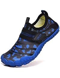 WOWEI Zapatos de Agua Niños Verano Antideslizante Secado Rápido Escarpines de Descalza para Deportes Acuáticos Buceo Playa Natación Snorkel Surfeando 29-38 EU