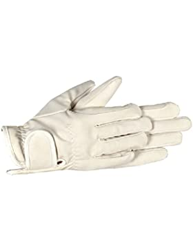 Riders Trend Embossed Synthetic PU Riding Gloves - Guantes de equitación, color blanco roto, talla XL