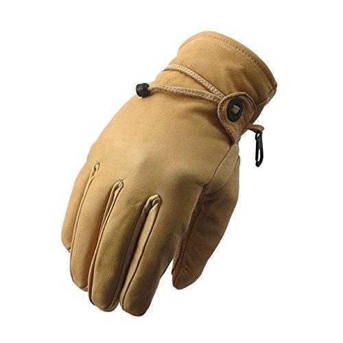 Handschuhe Gloves Leather Leder Indiana beige Motorrad Biker Motorradfahrer Harley Custom L beige - Indian Motorrad Handschuhe